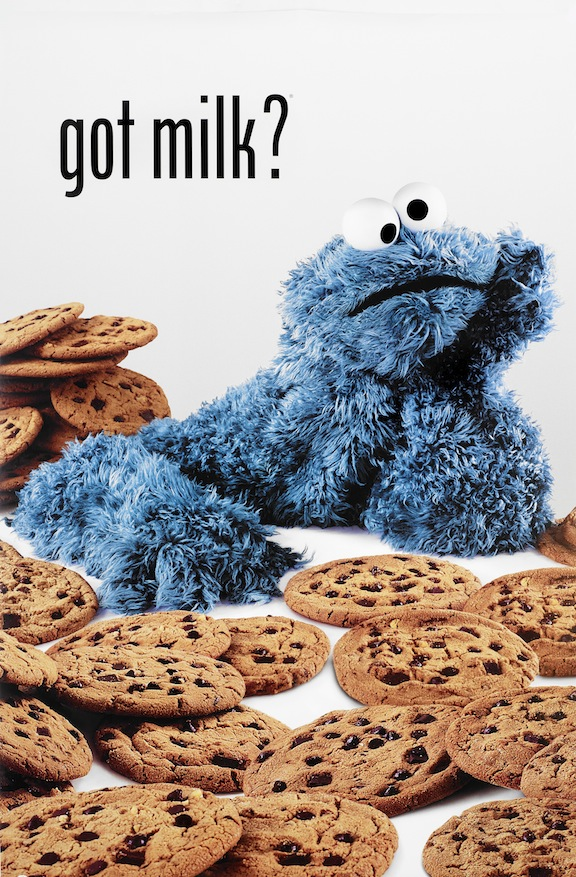 cookie monster poster got milk