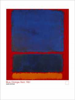 Blue, Orange, Red 1961